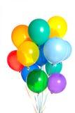 Een groep ballons op wit stock afbeelding
