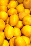 Een groep citroenen stock afbeelding