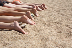 Een groep de voeten van vrouwen Royalty-vrije Stock Foto's