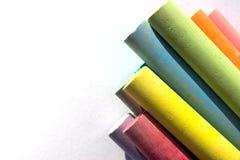 Een groep kleurkrijtjestukken Royalty-vrije Stock Foto