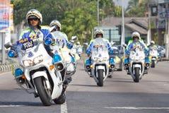 Een groep Koninklijke Maleise Politie royalty-vrije stock foto's