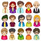 Een groep mensen royalty-vrije illustratie