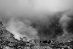 Een groep mensen op Wit Eiland stock fotografie