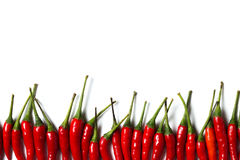 Een groep Spaanse pepers Stock Fotografie