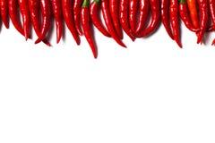 Een groep Spaanse pepers Stock Afbeelding