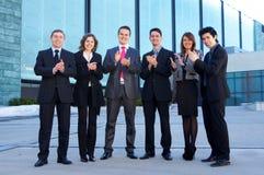 Een groep van zes jonge businesspersons Royalty-vrije Stock Afbeelding