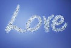 Liefde met diamanten Stock Afbeelding