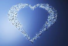 Hart van diamanten Stock Foto