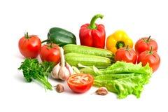 Een groep verschillende verse groenten Royalty-vrije Stock Fotografie