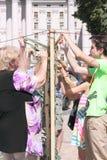 Een groep vrijwilligers Royalty-vrije Stock Fotografie
