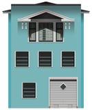 Een groot blauw gebouw royalty-vrije illustratie