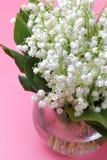Een groot boeket van boslelies Convallaria royalty-vrije stock foto's
