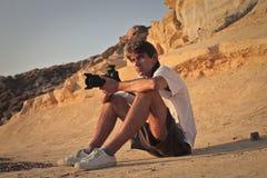 Een groot fotograaf stock fotografie