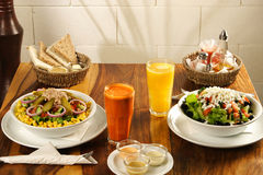 Een groot gezond ontbijt Stock Fotografie