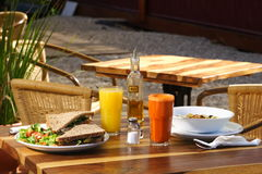 Een groot gezond ontbijt Stock Afbeelding