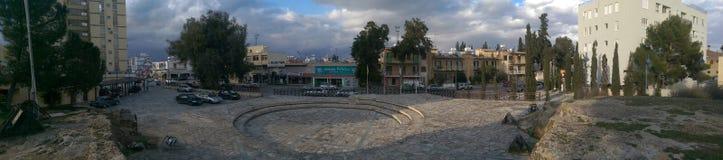 Een groot landschap van een mooie stad van Nicosia Royalty-vrije Stock Afbeeldingen