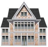 Een groot oud gebouw royalty-vrije illustratie