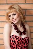 Een groot portret van een mooi blonde meisje. Royalty-vrije Stock Fotografie