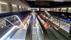 Een groot station, graafwerktuigen Royalty-vrije Stock Afbeelding
