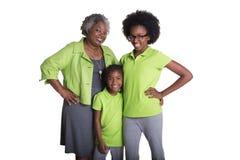 Een grootmoeder en haar 2 kleindochters royalty-vrije stock foto