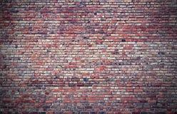 Een grote bakstenen muur in rode tonen Royalty-vrije Stock Afbeelding