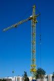 Een grote bouwkraan Stock Foto