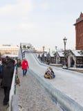 Een grote ijsdia in Moskou royalty-vrije stock foto