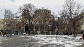 Een grote kerk in Sofia stock foto's