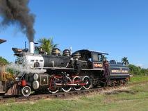 Een grote oude werkende Trein van de Stoom Royalty-vrije Stock Foto's