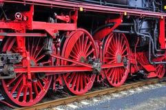 Een grote oude werkende Trein van de Stoom Stock Afbeelding