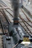 Een grote oude werkende Trein van de Stoom Royalty-vrije Stock Fotografie