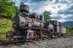 Een grote oude werkende Trein van de Stoom stock foto
