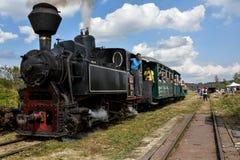 Een grote oude werkende Trein van de Stoom Royalty-vrije Stock Foto
