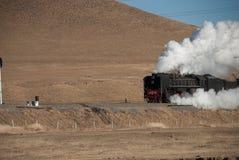 Een grote oude werkende Trein van de Stoom Stock Foto's