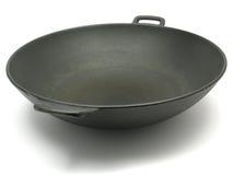 Een grote zwarte wok Royalty-vrije Stock Fotografie