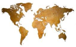 Een grungekaart van de wereld Stock Afbeelding