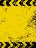 Een grungy en versleten textuur van gevaarstrepen.   stock illustratie