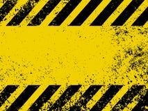 Een grungy en versleten textuur van gevaarstrepen. EPS 8 stock illustratie