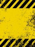 Een grungy en versleten textuur van gevaarstrepen. EPS 8 Stock Fotografie
