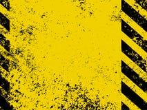Een grungy en versleten textuur van gevaarstrepen. EPS 8 royalty-vrije illustratie