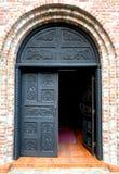 Een half geopende deur Royalty-vrije Stock Fotografie