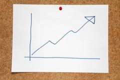 Een hand getrokken grafiek. Stock Foto's