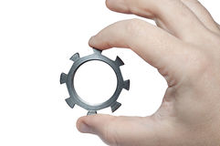 Een hand houdt een detail Stock Afbeeldingen