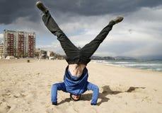 Een handstand Stock Afbeelding