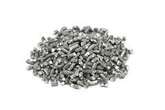 Een handvol van gehakte aluminiumdraad Stock Foto's