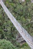 Een hangbrug stock fotografie