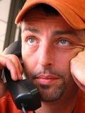 Een harde Tijd op de Telefoon Stock Afbeeldingen