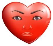 Een hart met een gezicht Stock Fotografie