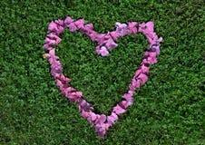 Een hart van bloemen wordt gemaakt die Stock Fotografie
