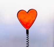 Een hart van het de lenteglas Stock Foto's